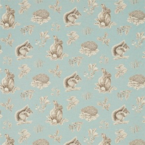 Tyg Sanderson - Squirrel & Hedgehog - Tyg Sanderson - Sqiurrel & Hedgehog Sky Blue