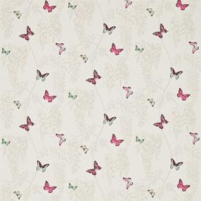 Tyg Sanderson - Wisteria & Butterfly - Tyg Sanderson - Wisteria & Butterfly Fuchsia