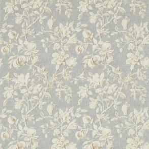 Tyg Sanderson - Magnolia & Pomegranate - Tyg Sanderson -Magnolia & Pomegranate Grey Blue