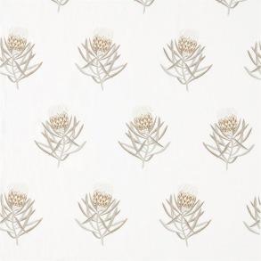 Tyg Sanderson - Protea Flower Embroidery - Tyg Sanderson - Protea Flower Embroidery Gold