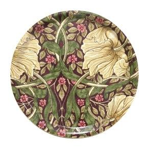Rund bricka 31 William Morris - Pimpernel Aubergine