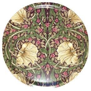 Rund bricka 46 William Morris - Pimpernel Aubergine