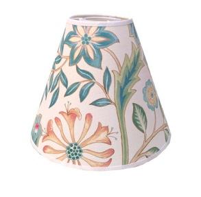 Lampskärm William Morris - Wilhelmina Vit med Toppring 19 - Lampskärm William Morris - Wilhelmina Vit med Toppring 19