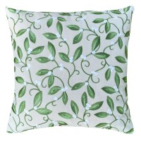 Kudde William Morris - Mistletoe Broderad Grön