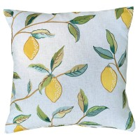 Kudde William Morris - Lemon Tree Broderad Grön