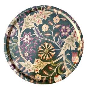 Rund bricka 46 William Morris - Wilhelmina Grön - Rund bricka 46 William Morris - Wilhelmina Grön