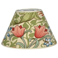 Lampskärm William Morris - Golden Lily Creme Rund 25
