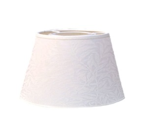 Lampskärm William Morris - Willow Bough Minor Vit oval 20