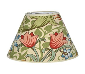 Lampskärm William Morris - Golden Lily Creme Rund 25
