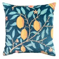 Kudde William Morris - Fruit Blå Velvet