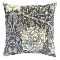 Kudde William Morris - Honeysuckle & Tulip Svart Velvet