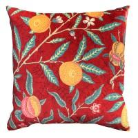 Kudde William Morris - Fruit Röd Velvet