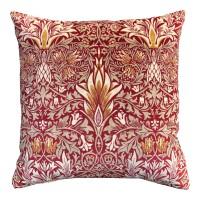 Kudde William Morris - Snakeshead Röd Velvet