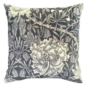 Kudde William Morris - Honeysuckle & Tulip Svart Velvet - Kudde William Morris - Honeysuckle & Tulip Svart Velvet