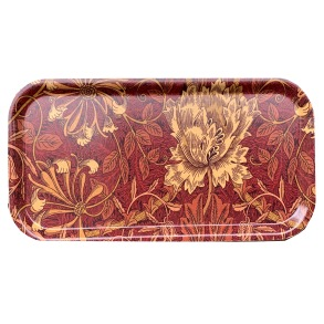 Cocktailbricka William Morris - Honeysuckle & Tulip Röd