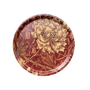 Rund 31bricka William Morris - Honeysuckle & TulipRöd