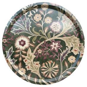 Rund bricka 46 William Morris - Wilhelmina Grön
