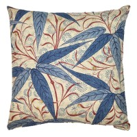 Kudde William Morris - Bamboo Blå