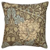 Kudde William Morris - Honeysuckle and Tulip Brun