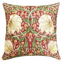 Kudde William Morris - Pimpernel Röd