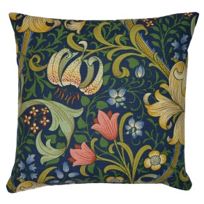 Kudde William Morris - Golden Lily Blå