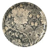Rund bricka 46 William Morris - Honeysuckle & Tulip Pure Svart