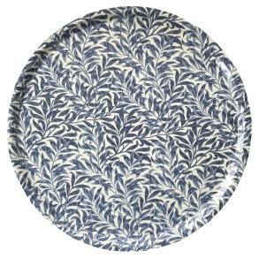 Rund bricka 46 William Morris - Willow Bough Minor Blå