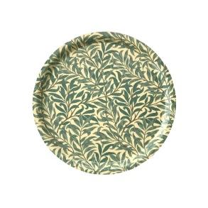 Rund bricka 31 William Morris - Willow Bough Minor Grön