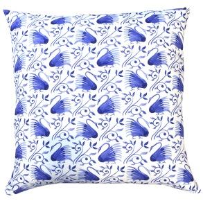 Kudde William Morris - Swans Blå