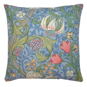 Kudde William Morris - Golden Lily Ljusblå