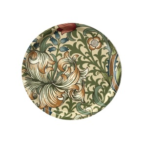 Rund bricka 31 William Morris - Golden Lily Creme