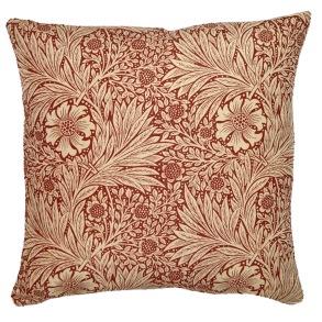 Kudde William Morris - Marigold Röd