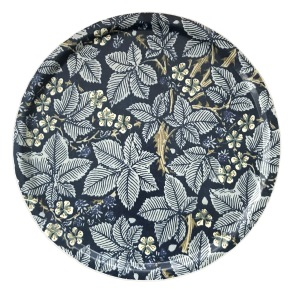 Rund bricka 46 William Morris - Bramble Mörkblå