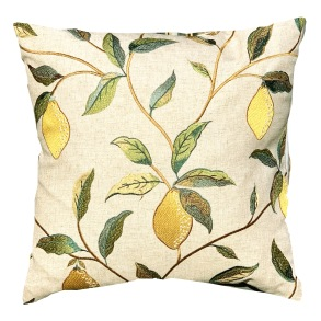 Kudde William Morris - Lemon Tree Broderad Grön