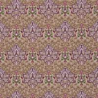 Tyg William Morris - Arichoke Embroidery Aubergine Gold
