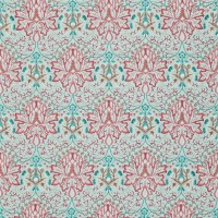 Tyg William Morris - Arichoke Embroidery Aqua Coral