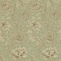 Tapet William Morris - Chrysanthemum Toile Eggshell/ Gold