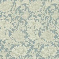 Tapet William Morris - Chrysanthemum Toile China Blue