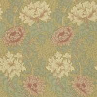 Tapet William Morris - Chrysanthemum Pink/ Yellow