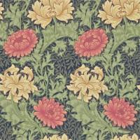 Tapet William Morris - Chrysanthemum Indigo
