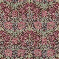 Tapet William Morris - Honeysuckle & Tulip Burgundy/Sage