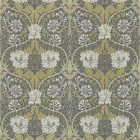 Tapet William Morris - Honeysuckle & Tulip Charcoal/Gold