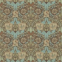 Tapet William Morris - Honeysuckle & Tulip Taupe/ Aqua