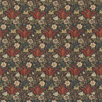 Tyg William Morris - Compton Linne Faded Terracotta Multi