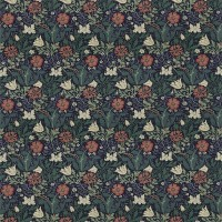 Tyg William Morris - Compton Bomull Indigo Green
