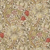 Tapet William Morris - Golden Lily Biscuit Brick