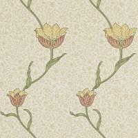 Tapet William Morris - Garden Tulip Russet Lichen