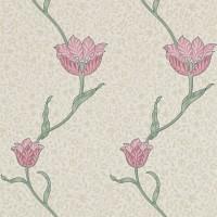 Tapet William Morris - Garden Tulip Rose Thyme