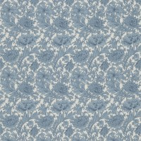 Tyg William Morris - Chrysantemum Toile Woad Chalk