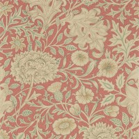 Tapet William Morris - Double Bough Carmine Red